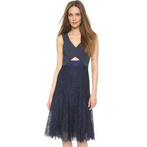 Navy Rebecca Taylor Lace Cocktail Dress 4